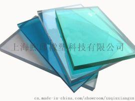 上海煦邱PC聚碳酸酯耐力板厂家实心阳光板车棚雨棚
