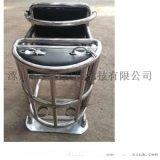 [鑫盾安防]圆管型审讯椅 钢管审讯桌椅带U型锁XD9