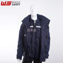 阻燃抗靜電兩件套 防寒保暖 防靜電防寒服 保暖 定制阻燃抗靜電服