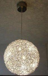 不鏽鋼水晶吊燈現代低壓燈鋁編織吊燈