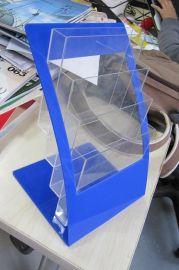 工厂订做有机玻璃多层收纳架A4资料架