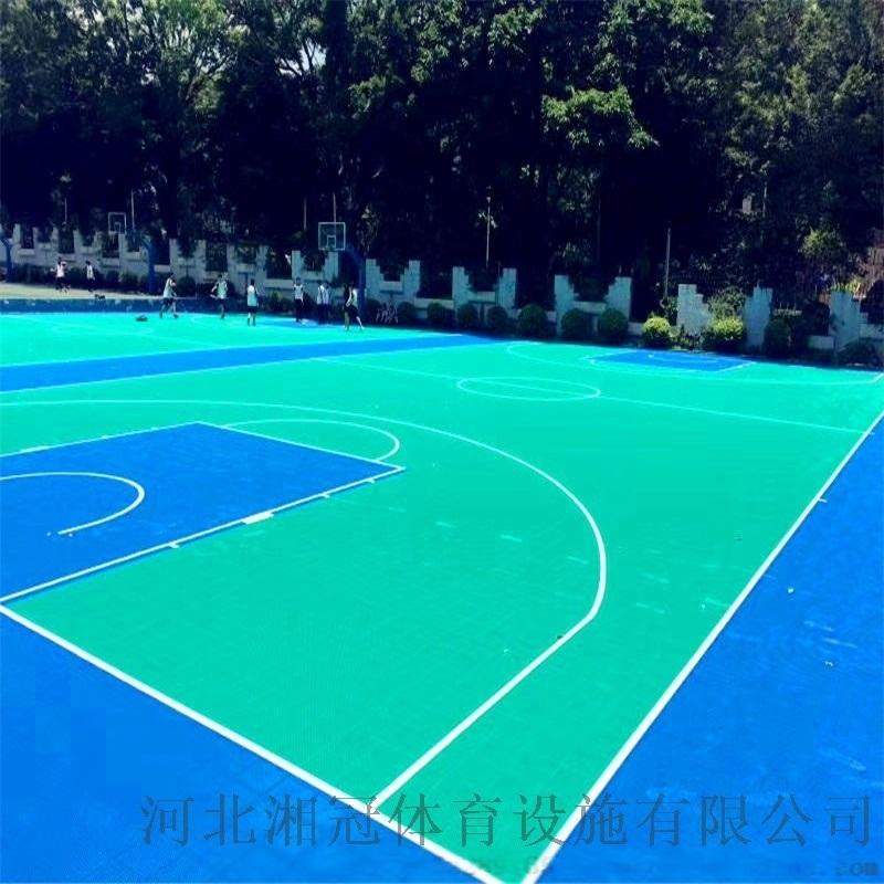 德州市氣墊懸浮地板籃球場塑膠地板拼裝地板