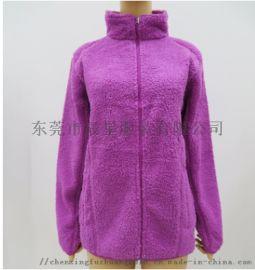 女士羊羔绒外套秋冬抓绒衣加绒外套羊羔绒