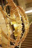 別墅酒店圓形豪華水晶燈宴會廳水晶吸頂燈