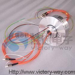 victoryway多通路光电组合滑环 多通路空心轴大电流导电滑环