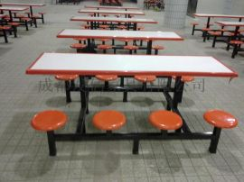 学校食堂玻璃钢餐桌椅生产厂家
