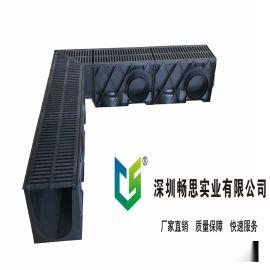 HDPE排水沟 定制塑料排水沟 黑色塑料下水道