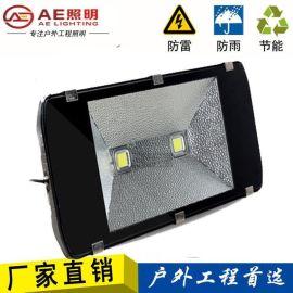 AE照明LED投光灯100W50W150W200W 工矿灯泛光灯路灯投射灯户外室外防水 双芯100W正白 户外亮化工程