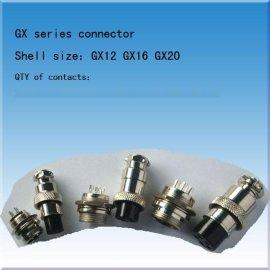 錩钢圆形连接器 电源航空插头(GX12 GX16 GX20)