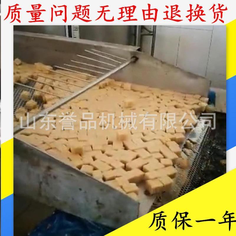 鱼豆腐膨化食品生产流水线设备 妙脆角导热油全自动油炸流水线