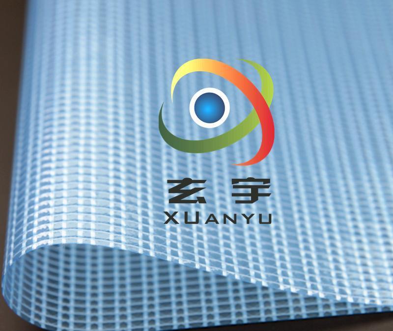 大量现货供应500D2.1米PVC透明夹网布 PVC网格布