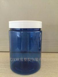 广口400ml蓝色塑料瓶