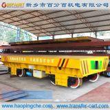 11吨无轨电动平板车52吨轨道运输搬运车