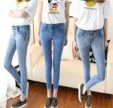 广州最便宜的牛仔裤批发工厂时尚女士铅笔裤批发低价清仓
