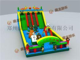 户外室内儿童充气蹦蹦床,充气淘气堡加厚型气垫床,中小型充气城堡。