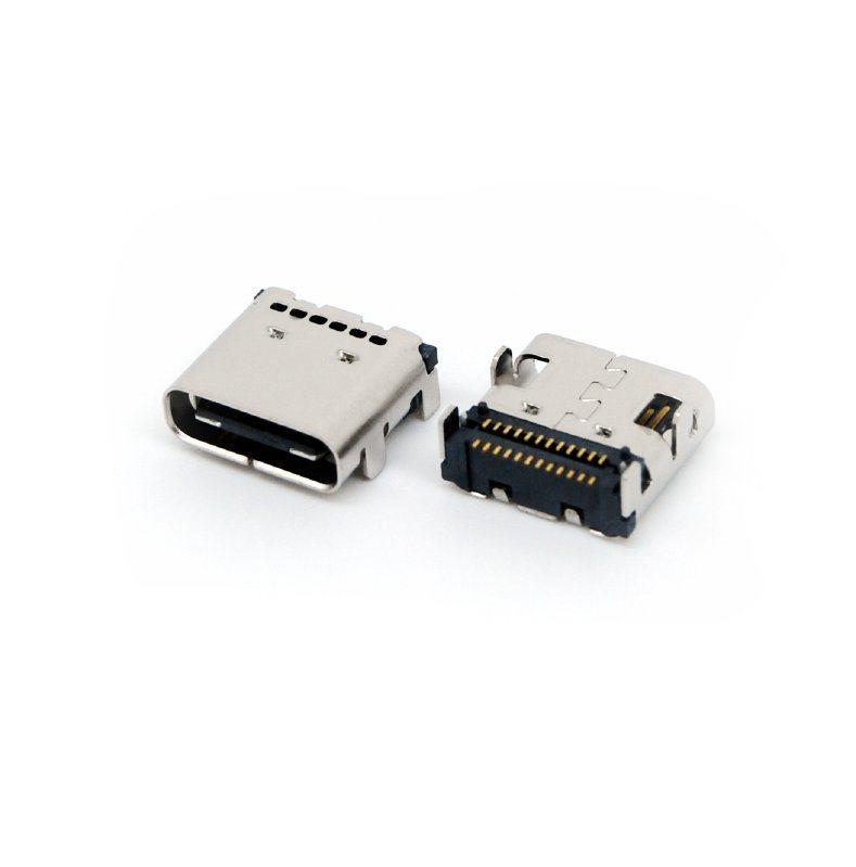 优势供应type-c母座两排全贴SMT板上型
