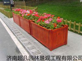户外防腐木花箱,批发木制花箱,加工木花箱