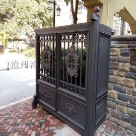 嘉兴海宁封板庭院大门简易围墙护栏精品