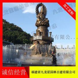 石雕仿古水钵 雕塑水景厂家