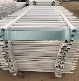 包立柱PVC实心塑钢护栏 围栏栅栏草坪护栏庭院木纹围栏一米长价格