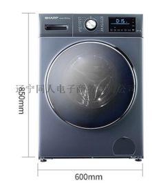 日本夏普全自动变频滚筒式洗衣机 空气洗 洗烘一体机XQG100-6369W-H
