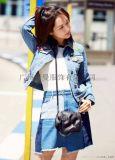歐韓時尚牛仔外套當季新款經典百搭女裝尾貨批發走份