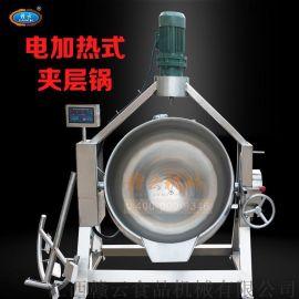 商用加工煮卤料夹层锅,200L电加热夹层锅