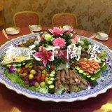 景德镇陶瓷大盘子 超大圆盘 创意拼盘 海鲜大咖盘
