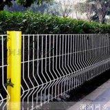 厂家绿白蓝黄桃型柱护栏网