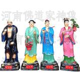 八仙神像全套 吕洞滨曹国舅雕塑 玻璃钢佛像