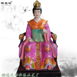 彩绘女娲娘娘塑像 人祖爷雕塑佛像 三皇神像