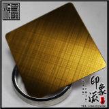 304交叉拉絲鈦金色不鏽鋼板圖片