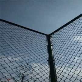 绿色浸塑防锈篮球场防护网 菱形弹力小区活动场护栏球场围栏批发