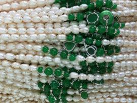 跑江湖地摊天然北海珍珠串链现场制作29元模式多少钱