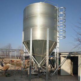厂家直销养猪设备自动化料线配件料塔 镀锌板料塔