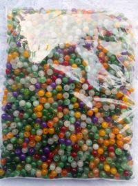 七彩玉石散珠子饰品1颗约1元模式赶集庙会夜市厂家