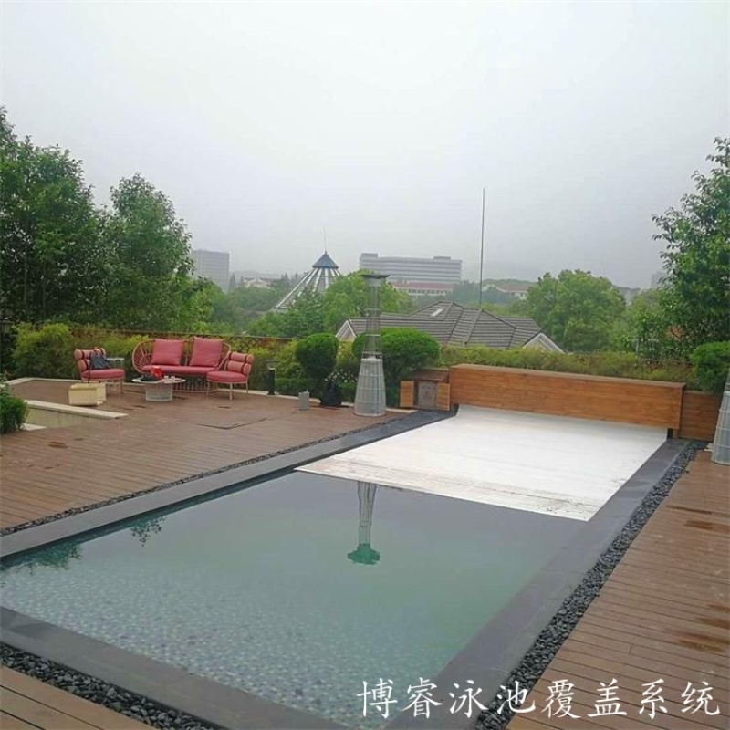 博睿泳池蓋 泳池保溫蓋板 電動泳池蓋