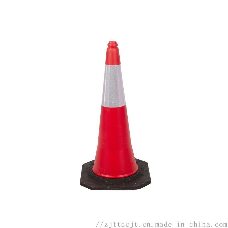 PE路锥塑料反光锥1米雪糕桶橡胶路障警示锥桶