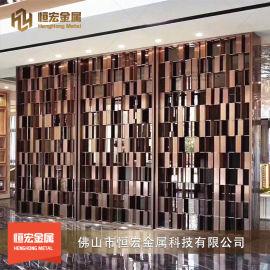 304不锈钢折叠隔屏 餐厅装饰金属不锈钢折叠屏风
