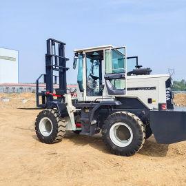 四驱越野叉车门架改装5吨越野叉车 铰接式叉车大功率