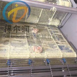 得尔润鱼排上浆机 鱼排裹面包糠设备 鱼排上糠机