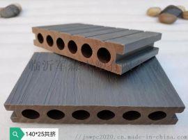 140*25共挤圆孔户外环保木塑地板厂家**