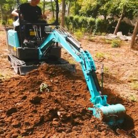 挖掘机械 小挖土机电缆挖沟机价格 六九重工小型履带