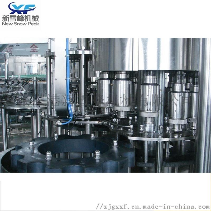 全自动三合一含气饮料灌装机 碳酸饮料灌装生产线