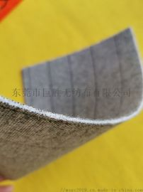 直销灰色条纹中底布,针刺复合PK条纹中底无纺布