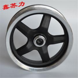 电动小推车轮毂10寸五筋40盘碟刹铝轮三轮车前轮