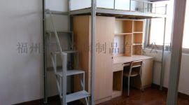 福建厦门公寓学生公寓床 上铺下桌宿舍铁架床