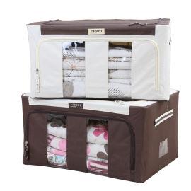 棉麻衣服收纳箱布艺衣物整理盒箱子袋子折叠衣柜储物筐袋家用神器