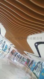 铝合金建材装饰U型木纹铝方通吊顶天花