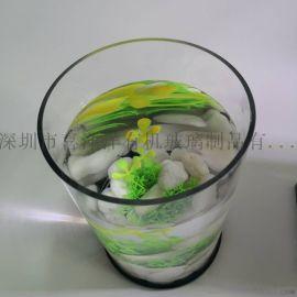 亚克力圆形小鱼缸厂家直销圆柱形亚克力透明鱼缸